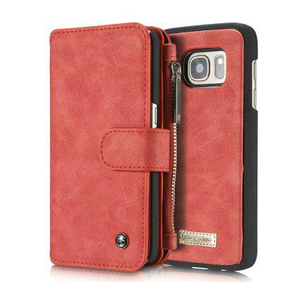 CaseMe for Samsung Galaxy S7 Magnetic Premium PU Leather Wallet Case Flip TPU PC Cover with Built-in 14 Slots