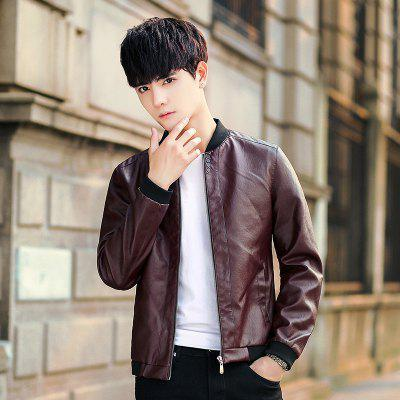 Mens Coat Spring and Autumn 2018 New Handsome Trend PU Leather JacketMens Jackets &amp; Coats<br>Mens Coat Spring and Autumn 2018 New Handsome Trend PU Leather Jacket<br><br>Clothes Type: Leather &amp; Suede<br>Collar: Stand Collar<br>Material: Faux Leather<br>Package Contents: 1xJacket<br>Season: Spring, Fall, Winter<br>Shirt Length: Regular<br>Sleeve Length: Long Sleeves<br>Style: Casual<br>Weight: 0.8000kg
