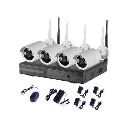 4CH IR Home Security Wifi Wireless IP Camera System 720P Outdoor