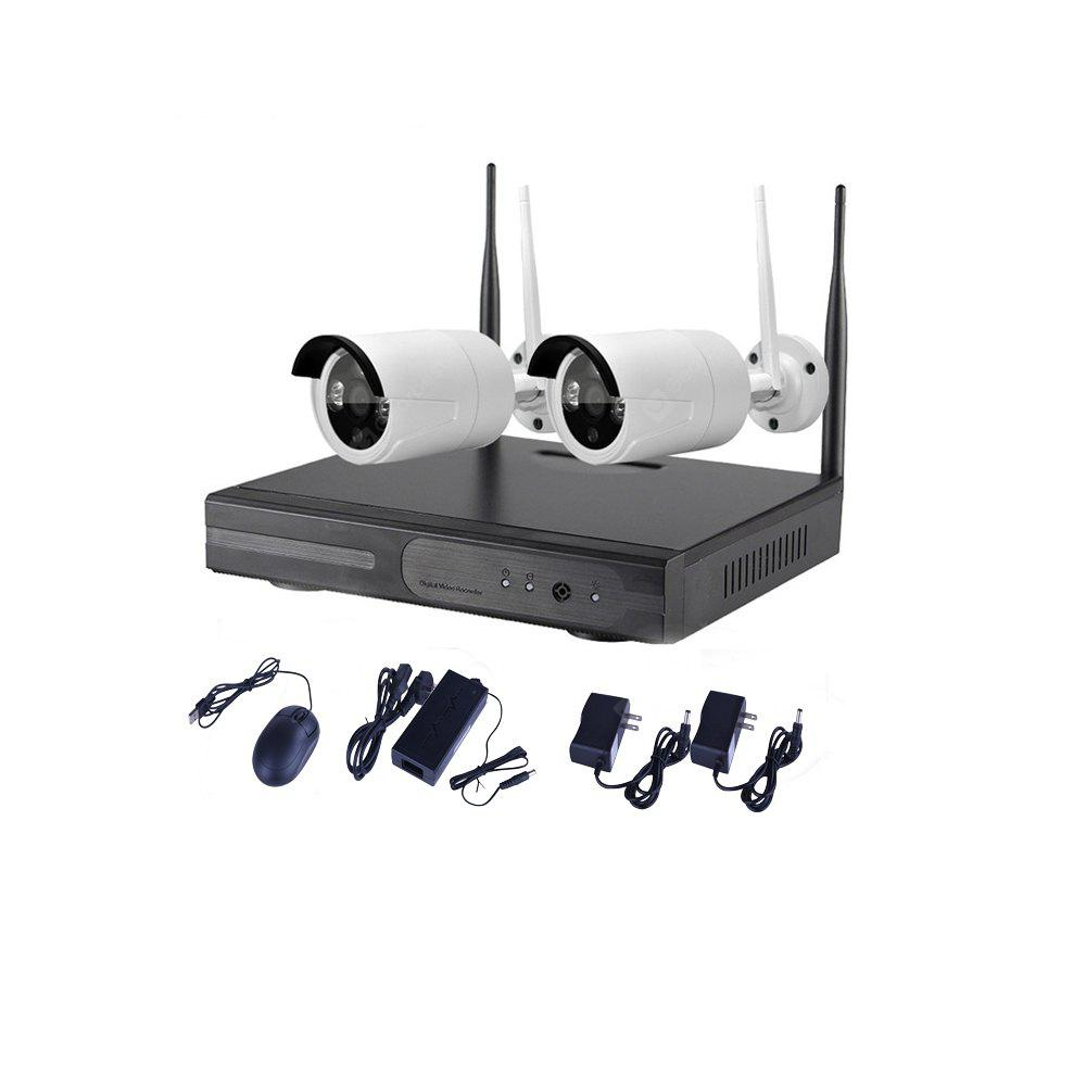 2CH IR Home Security Wifi Wireless IP Camera System 720P Outdoor