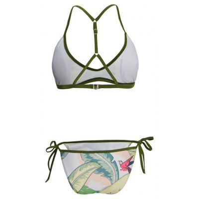 Leaf Printing Split Bikini SetWomens Swimwear<br>Leaf Printing Split Bikini Set<br><br>Bra Style: Plunge<br>Elasticity: Elastic<br>Gender: For Women<br>Material: Chinlon<br>Package Contents: 1x Bikini Set<br>Pattern Type: Print<br>Support Type: Wire Free<br>Swimwear Type: Tankini<br>Waist: Natural<br>Weight: 0.1080kg<br>With Pad: Yes