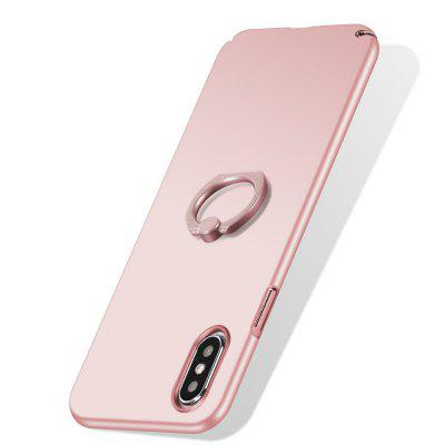 Ultra Thin Hard Stand Holder Ring Shape Kickstand Phone Case Cover for iPhone X