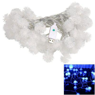 1PC USB Power 10M 60LEDS Led String Lights 8MODES Snow Ball Light Christmas New Year Wedding Party Bedroom DC5V