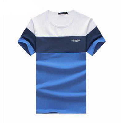 Mens Summer New Fashion Patchwork Short Sleeve T ShirtMens Short Sleeve Tees<br>Mens Summer New Fashion Patchwork Short Sleeve T Shirt<br><br>Collar: Round Neck<br>Fabric Type: Broadcloth<br>Material: Cotton, Spandex<br>Package Contents: 1 x T Shirt<br>Pattern Type: Patchwork<br>Sleeve Length: Short Sleeves<br>Style: Casual<br>Weight: 0.2100kg