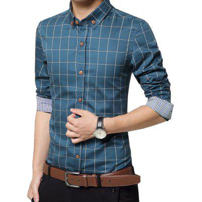 Mens New Fashion Plaid Cotton  Long Sleeve ShirtMens Shirts<br>Mens New Fashion Plaid Cotton  Long Sleeve Shirt<br><br>Collar: Turn-down Collar<br>Fabric Type: Broadcloth<br>Material: Cotton<br>Package Contents: 1 x Shirt<br>Shirts Type: Casual Shirts<br>Sleeve Length: Full<br>Weight: 0.3100kg