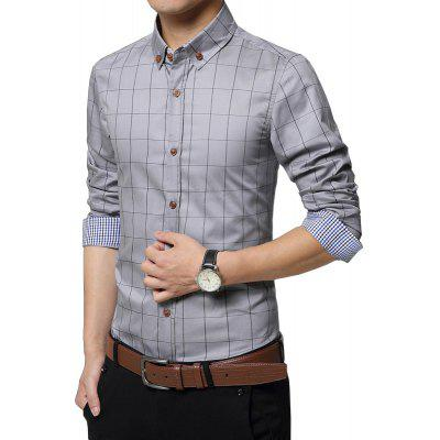 Mens Classic Fashion Plaid Long Sleeve Cotton ShirtMens Shirts<br>Mens Classic Fashion Plaid Long Sleeve Cotton Shirt<br><br>Collar: Turn-down Collar<br>Fabric Type: Broadcloth<br>Material: Cotton<br>Package Contents: 1 x Shirt<br>Shirts Type: Casual Shirts<br>Sleeve Length: Full<br>Weight: 0.3100kg