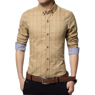 Men's New Fashion Plaid Business Long Sleeve Shirt rocawear ремень rocawear rw1227 черный