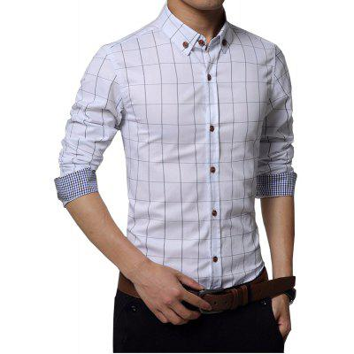 Mens Casual Business Plaid Long Sleeve Cotton ShirtMens Shirts<br>Mens Casual Business Plaid Long Sleeve Cotton Shirt<br><br>Collar: Turn-down Collar<br>Fabric Type: Broadcloth<br>Material: Cotton<br>Package Contents: 1 x Shirt<br>Shirts Type: Casual Shirts<br>Sleeve Length: Full<br>Weight: 0.3100kg