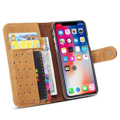 Cover Case for iPhone X Retro Cowhide Material Leather with SlingiPhone Cases/Covers<br>Cover Case for iPhone X Retro Cowhide Material Leather with Sling<br><br>Compatible for Apple: iPhone X<br>Features: Cases with Stand, With Credit Card Holder, Anti-knock, Dirt-resistant, FullBody Cases<br>Material: TPU, PU Leather<br>Package Contents: 1 x Phone Case<br>Package size (L x W x H): 20.00 x 10.00 x 3.00 cm / 7.87 x 3.94 x 1.18 inches<br>Package weight: 0.0680 kg<br>Style: Vintage, Leather, Solid Color