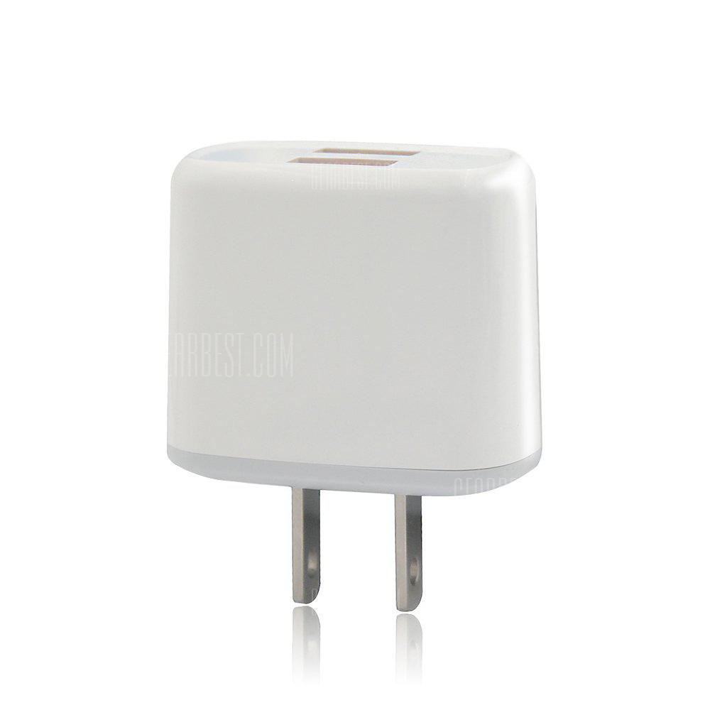 JOFLO 5V/2.1A Fast Charging US Plug Dual USB Wall Charger / USB Travel Charger Adapter