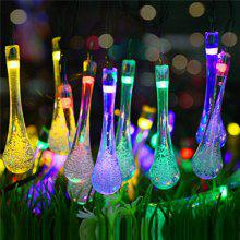 Outdoor party string lights online deals gearbest solar string light 30 led waterproof water drop fairy lamp outdoor lighting garden holiday party decoration aloadofball Image collections