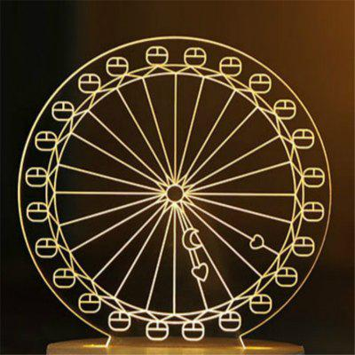 Creative 3D Ferris Wheel Night Light Table Lamp Bedroom Decoration with Little Girl GiftDecorative Lights<br>Creative 3D Ferris Wheel Night Light Table Lamp Bedroom Decoration with Little Girl Gift<br><br>Package Contents: 1 x Night Light<br>Package size (L x W x H): 10.00 x 10.00 x 10.00 cm / 3.94 x 3.94 x 3.94 inches<br>Package weight: 0.5000 kg<br>Power Supply: USB Cable