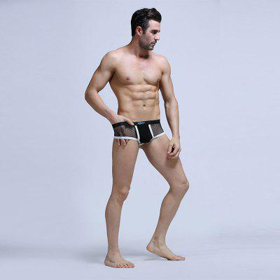 Mens Briefs Boxers with Ice GauzeMens Underwear &amp; Pajamas<br>Mens Briefs Boxers with Ice Gauze<br><br>Material: Polyamide<br>Package Contents: 1 x Underwear<br>Package size (L x W x H): 1.00 x 1.00 x 1.00 cm / 0.39 x 0.39 x 0.39 inches<br>Package weight: 0.3000 kg<br>Waist Type: Mid