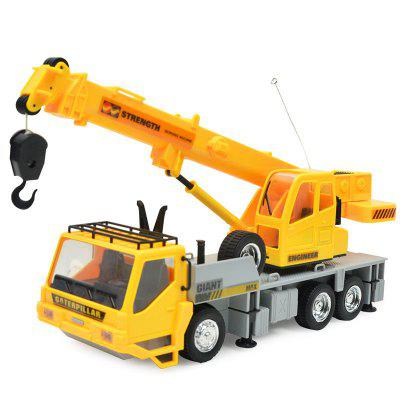 1:24 2.4G 8CH Wireless Remote Controlled Chargeable RC Engineering Vehicles Crane Truck for Kids ToyRC Cars<br>1:24 2.4G 8CH Wireless Remote Controlled Chargeable RC Engineering Vehicles Crane Truck for Kids Toy<br><br>Age: Above 8 years old<br>Car Power: Built-in rechargeable battery<br>Channel: 8-Channels<br>Charging Time: 240 minutes<br>Control Distance: 30-80m<br>Functions: With music, With light, Turn left/right, Stunt, Rotation, Forward/backward<br>Material: ABS, Electronic Components<br>Motor Type: Brushless Motor<br>Package Contents: 1 x Crane Truck,  1 x Remote Control,  1 x Charger Adapter,  1 x Rechargeable Battery<br>Package size (L x W x H): 34.00 x 10.50 x 41.50 cm / 13.39 x 4.13 x 16.34 inches<br>Package weight: 0.1500 kg<br>Product size (L x W x H): 9.50 x 26.00 x 10.00 cm / 3.74 x 10.24 x 3.94 inches<br>Product weight: 0.1200 kg<br>Proportion: 1:24<br>Racing Time: 15 - 20min<br>Remote Control: 2.4GHz Wireless Remote Control<br>Transmitter Power: 2 x 1.5V AA battery (not included)<br>Type: Engineering Car