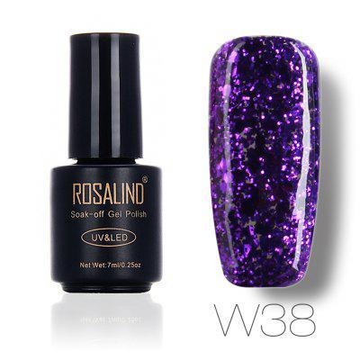 ROSALIND Crystal Colorful Style Nail Polish 7 ML