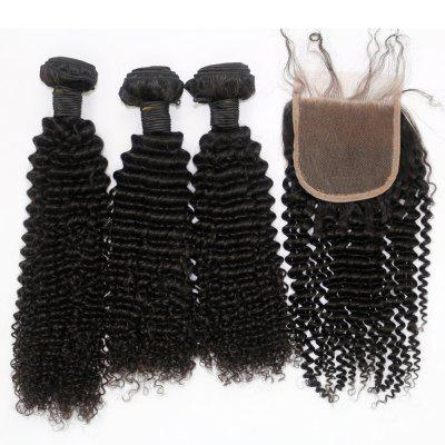 Kinky Curl 100 Percent Brazilian Virgin Hair Weave 3pcs with 1pc Lace ClosureHair Weaves<br>Kinky Curl 100 Percent Brazilian Virgin Hair Weave 3pcs with 1pc Lace Closure<br><br>Chemical Processing: None<br>Color: Natural Black<br>Color Type: Pure Color<br>Hair Grade: 6A+ 100% Unprocessed Virgin Hair<br>Hair Quality: Virgin Hair<br>Hair Weft: Machine Double Weft<br>Material: Human Hair<br>Package Contents(pcs): 3 x Weave, 1 x Lace Closure<br>Package size (L x W x H): 20.00 x 10.00 x 5.00 cm / 7.87 x 3.94 x 1.97 inches<br>Package weight: 0.4000 kg<br>Source: Brazilian Hair<br>Style: Kinky Curly<br>Type: Hair Weft with Closure