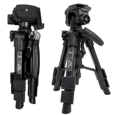 Mactrem MT21 Tripod Tabletop Desktop Tripod with Pan Head Panoramic Quick Release Plate Carrying Bag for DSLR Camera