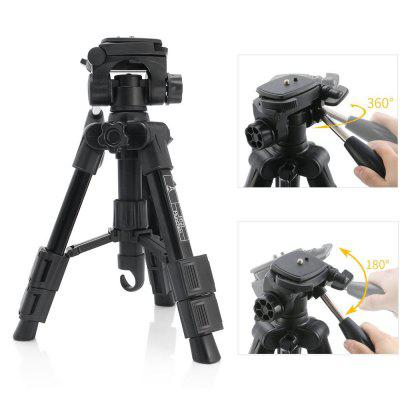 Mactrem MT21 Tripod Tabletop Desktop Tripod with Pan Head Panoramic Quick Release Plate Carrying Bag for DSLR CameraTripods<br>Mactrem MT21 Tripod Tabletop Desktop Tripod with Pan Head Panoramic Quick Release Plate Carrying Bag for DSLR Camera<br><br>Accessories type: 3D Tripod head<br>Compatible with: Telephoto Lens, DSLR, Projector, Digital Camera, Mobile phone<br>Folded Length (cm): 30<br>Leg Sections: 3<br>Material: Magnesium Alloy, Plastic<br>Max Height (cm): 53<br>Max Load (kg): 10-15kg<br>Minimum Height (cm): 31<br>Model: MT21<br>Package Contents: 1 x Tripod, 1 x Carrying bag, 1 x Multi-language User Manual<br>Package size (L x W x H): 34.00 x 11.00 x 11.00 cm / 13.39 x 4.33 x 4.33 inches<br>Package weight: 0.9840 kg<br>Production type: Tripod head,Tripod,Pan-tilt<br>Tripod Head Type: Three Way Head