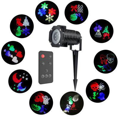 LED Color Projection Lights Applicable to Indoor and Outdoor Decoration for Valentine Day Christmas Other Holiday 6W