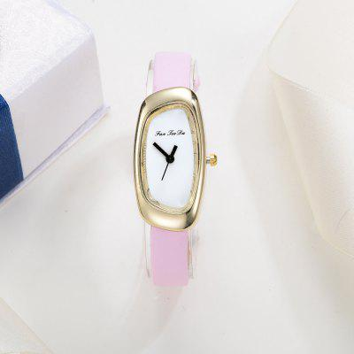 Fanteeda FD027 Women Unique Case Leather Band Quartz WatchWomens Watches<br>Fanteeda FD027 Women Unique Case Leather Band Quartz Watch<br><br>Band material: Leather<br>Band size: 21 x 1 CM<br>Case material: Alloy<br>Clasp type: Pin buckle<br>Dial size: 2 x 4 x 0.7 CM<br>Display type: Analog<br>Movement type: Quartz watch<br>Package Contents: 1 x Watch<br>Package size (L x W x H): 26.00 x 5.00 x 1.00 cm / 10.24 x 1.97 x 0.39 inches<br>Package weight: 0.0220 kg<br>Product size (L x W x H): 21.00 x 2.00 x 0.70 cm / 8.27 x 0.79 x 0.28 inches<br>Product weight: 0.0210 kg<br>Shape of the dial: Irregular<br>Watch mirror: Mineral glass<br>Watch style: Fashion, Business, Retro, Lovely, Wristband Style, Jewellery, Casual<br>Watches categories: Women,Female table<br>Water resistance: No