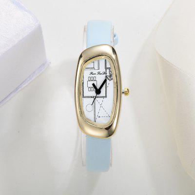 Fanteeda FD030 Women Unique Case Leather Band Quartz WatchWomens Watches<br>Fanteeda FD030 Women Unique Case Leather Band Quartz Watch<br><br>Band material: Leather<br>Band size: 21 x 1 CM<br>Case material: Alloy<br>Clasp type: Pin buckle<br>Dial size: 2 x 4 x 0.7 CM<br>Display type: Analog<br>Movement type: Quartz watch<br>Package Contents: 1 x Watch<br>Package size (L x W x H): 26.00 x 5.00 x 1.00 cm / 10.24 x 1.97 x 0.39 inches<br>Package weight: 0.0220 kg<br>Product size (L x W x H): 21.00 x 2.00 x 0.70 cm / 8.27 x 0.79 x 0.28 inches<br>Product weight: 0.0210 kg<br>Shape of the dial: Irregular<br>Watch mirror: Mineral glass<br>Watch style: Fashion, Business, Retro, Lovely, Wristband Style, Jewellery, Casual<br>Watches categories: Women,Female table<br>Water resistance: No