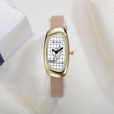 Fanteeda FD033 Women Unique Case Leather Band Quartz WatchWomens Watches<br>Fanteeda FD033 Women Unique Case Leather Band Quartz Watch<br><br>Band material: Leather<br>Band size: 21 x 1 CM<br>Case material: Alloy<br>Clasp type: Pin buckle<br>Dial size: 2 x 4 x 0.7 CM<br>Display type: Analog<br>Movement type: Quartz watch<br>Package Contents: 1 x Watch<br>Package size (L x W x H): 26.00 x 5.00 x 1.00 cm / 10.24 x 1.97 x 0.39 inches<br>Package weight: 0.0220 kg<br>Product size (L x W x H): 21.00 x 2.00 x 0.70 cm / 8.27 x 0.79 x 0.28 inches<br>Product weight: 0.0210 kg<br>Shape of the dial: Irregular<br>Watch mirror: Mineral glass<br>Watch style: Fashion, Business, Retro, Lovely, Wristband Style, Jewellery, Casual<br>Watches categories: Women,Female table<br>Water resistance: No