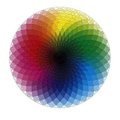 Round Jigsaw Puzzles Rainbow Palette Intellectual Game for Adults and Kids 1000PCS k palette k palette 1day tattoo 24