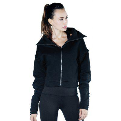 New Winter Fitness Suit Female Long Sleeve Hooded Coat