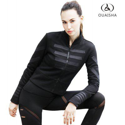 Ouaisha Movement Running Fitness and Slim Sports CoatJackets &amp; Coats<br>Ouaisha Movement Running Fitness and Slim Sports Coat<br><br>Closure Type: Zipper<br>Clothes Type: Jackets<br>Collar: Mandarin Collar<br>Elasticity: Elastic<br>Embellishment: Appliques<br>Fabric Type: Jersey<br>Material: Polyester<br>Package Contents: 1 X coat<br>Pattern Type: Others<br>Shirt Length: Regular<br>Sleeve Length: Full<br>Style: Active<br>Type: Slim<br>Weight: 0.4000kg