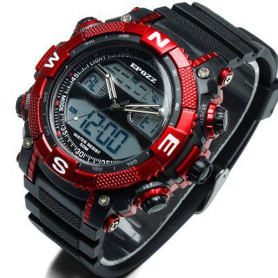 EPOZZ 2801 Men Sports Analog Digital Waterproof WatchLED Watches<br>EPOZZ 2801 Men Sports Analog Digital Waterproof Watch<br><br>Available Color: Black,White,Red,Blue,Yellow<br>Band material: Rubber<br>Band size: 25.2 x 2.5 cm<br>Case material: Resin<br>Dial size: 4.5 x 4.5 x 1 cm<br>Display type: Analog-Digital<br>Movement type: Quartz + digital watch<br>Package Contents: 1 x Watch<br>Package size (L x W x H): 17.00 x 14.00 x 5.00 cm / 6.69 x 5.51 x 1.97 inches<br>Package weight: 0.1000 kg<br>People: Male table<br>Product size (L x W x H): 25.20 x 4.50 x 1.00 cm / 9.92 x 1.77 x 0.39 inches<br>Product weight: 0.0600 kg<br>Shape of the dial: Round<br>Special features: Alarm Clock, Stopwatch, Date<br>Watch style: Outdoor Sports, Classic, Fashion, Military<br>Water resistance: 50 meters