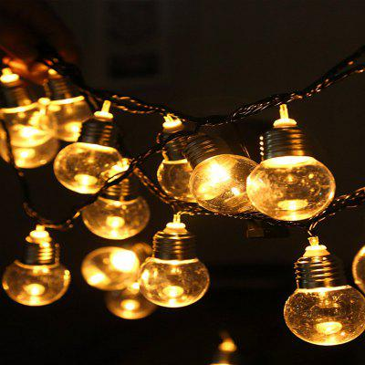 LED Ball Plastic Bulb Shape Christmas Day Interior Decoration String Lights