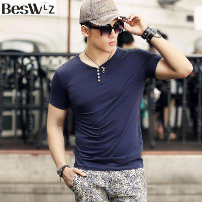 Summer Men Short Sleeve T-Shirts V Neck Casual Cotton Slim Tops TeesMens Short Sleeve Tees<br>Summer Men Short Sleeve T-Shirts V Neck Casual Cotton Slim Tops Tees<br><br>Collar: V-Neck<br>Fabric Type: Jersey<br>Material: Cotton, Spandex<br>Package Contents: 1 x T shirt<br>Pattern Type: Solid<br>Sleeve Length: Short Sleeves<br>Style: Casual<br>Weight: 0.2000kg