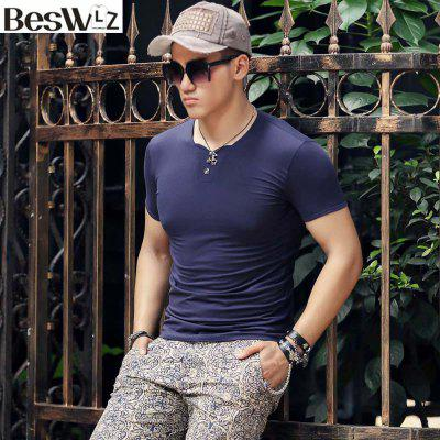Men T-Shirts Summer Short Sleeve V Neck Men Casual Style  Cotton Slim Tops TeesMens Short Sleeve Tees<br>Men T-Shirts Summer Short Sleeve V Neck Men Casual Style  Cotton Slim Tops Tees<br><br>Collar: V-Neck<br>Fabric Type: Jersey<br>Material: Cotton, Spandex<br>Package Contents: 1 x T shirt<br>Pattern Type: Solid<br>Sleeve Length: Short<br>Style: Casual<br>Weight: 0.2000kg