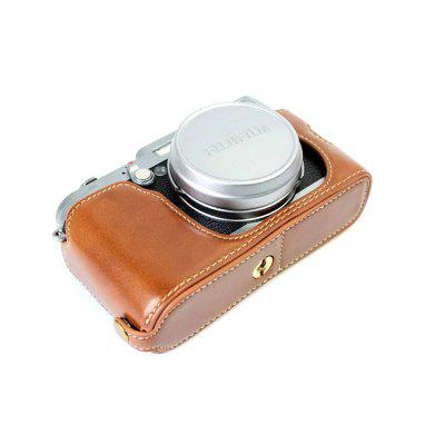 PU Leather Half Camera Case Bag Cover Base for Fujifilm x100 X100s X100tCamera Bags<br>PU Leather Half Camera Case Bag Cover Base for Fujifilm x100 X100s X100t<br><br>Applicable models: Fujifilm x100 X100s X100t<br>Package Contents: 1 x Camera Case<br>Package size (L x W x H): 13.00 x 6.00 x 8.00 cm / 5.12 x 2.36 x 3.15 inches<br>Package weight: 0.0650 kg<br>Type: Other, Leisure<br>Waterproof: No
