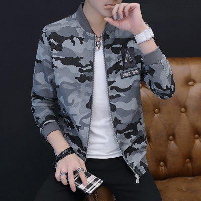 2018 New Mens Casual Camouflage JacketMens Jackets &amp; Coats<br>2018 New Mens Casual Camouflage Jacket<br><br>Clothes Type: Jackets<br>Collar: Stand Collar<br>Material: Cotton Blends<br>Package Contents: 1xJacket<br>Season: Spring, Fall, Winter<br>Shirt Length: Regular<br>Sleeve Length: Long Sleeves<br>Style: Casual<br>Weight: 0.8000kg