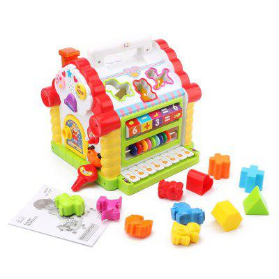 Funny House with Music Light Cubic Block