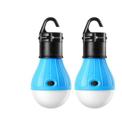 Buy Portable LED Lantern Tent Light Bulb for Camping Hiking Fishing Emergency BLUE for $3.98 in GearBest store