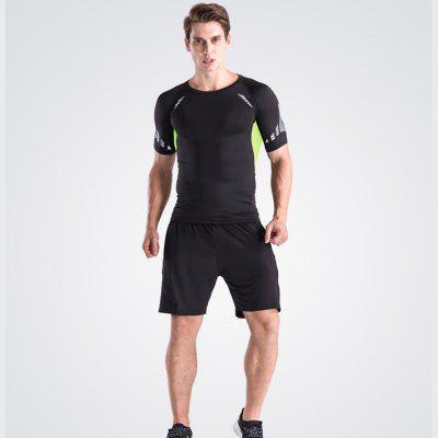 Mens Loose Fit Sweat-Absorbent Breathable Sports ShortsSports Clothing<br>Mens Loose Fit Sweat-Absorbent Breathable Sports Shorts<br><br>Material: Polyester, Spandex<br>Package Contents: 1 x Shorts<br>Pattern Type: Solid<br>Weight: 0.1500kg