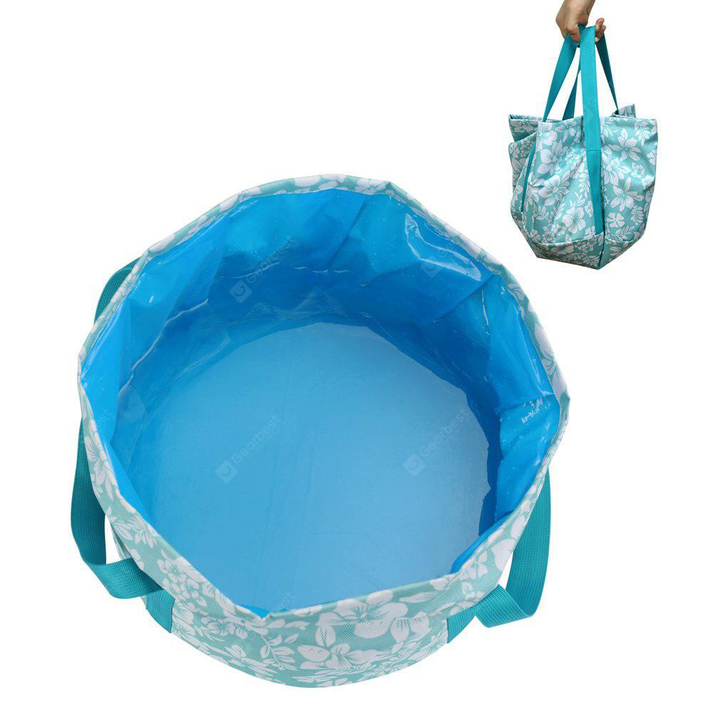 PolarFire Outdoor Camping Travel Supplies 12L Portable Folding Waterproof Wash Basin Fishing Tub