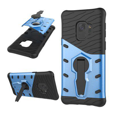 Case for Samsung Galaxy S9 Shockproof with Stand 360 Rotation Back Cover Contrast Color Hard PC