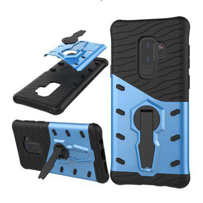 Case for Samsung Galaxy S9 Plus Shockproof with Stand 360 Rotation Back Cover Contrast Color Hard PC