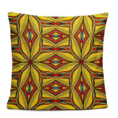 Folk Style Retro Color Decorative Pattern Texture Home Sofa Cushion Cover  Bedroom Pillowcase