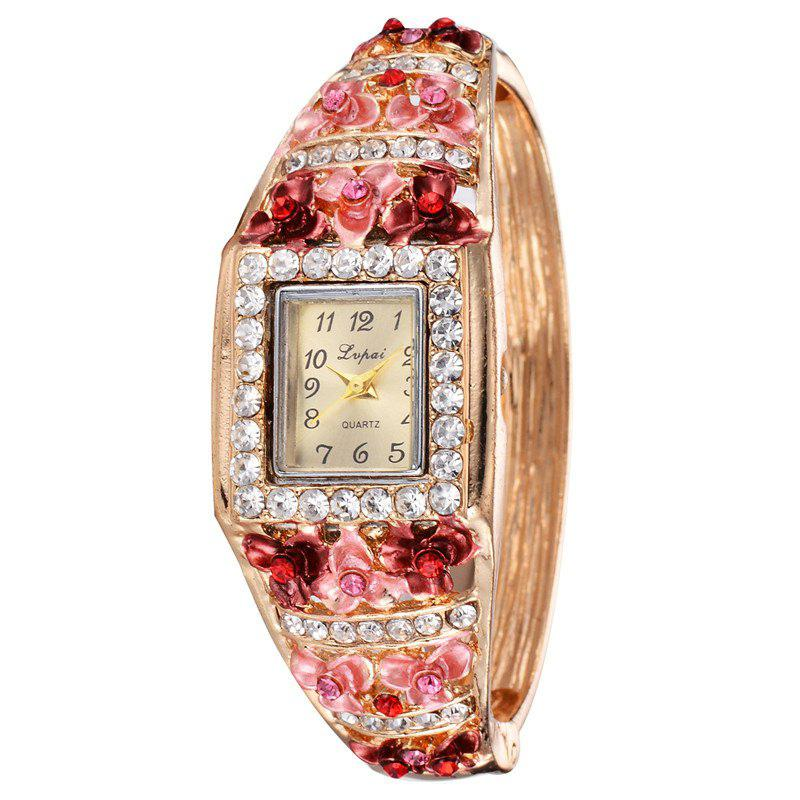 Lvpai P041 Women Unique Flowers Bangle Quartz Watches