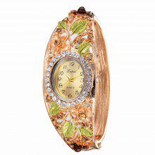 Lvpai P042 Women Flowers Bangle Watch Golden coupons