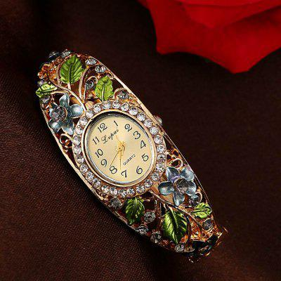 Lvpai P042 Women Flowers Bangle Quartz WatchesWomens Watches<br>Lvpai P042 Women Flowers Bangle Quartz Watches<br><br>Band material: Alloys<br>Band size: 18 x 0.7 cm<br>Case material: Alloy<br>Dial size: 1.7 x 2 x 0.8 cm<br>Display type: Analog<br>Movement type: Quartz watch<br>Package Contents: 1 x Watch<br>Package size (L x W x H): 9.00 x 8.50 x 3.00 cm / 3.54 x 3.35 x 1.18 inches<br>Package weight: 0.0350 kg<br>Product size (L x W x H): 18.00 x 1.70 x 0.80 cm / 7.09 x 0.67 x 0.31 inches<br>Product weight: 0.0340 kg<br>Shape of the dial: Elliptical<br>Watch mirror: Mineral glass<br>Watch style: Jewellery, Fashion, Retro, Casual, Cool, Lovely, Childlike, Wristband Style<br>Watches categories: Women,Female table<br>Water resistance: No