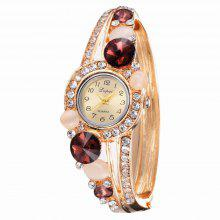 Lvpai P043 Women Unique Bangle Watch Brown coupons