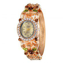 Lvpai P078 Rhinestones Bangle Bracelet Watch coupons