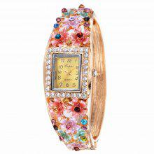 Lvpai P045 Women Unique Flowers Bangle Watch coupons