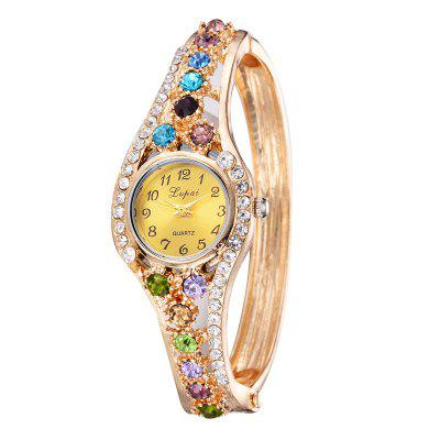 Lvpai P064 Women Special Rhinestones Bangle Bracelet Wrist WatchWomens Watches<br>Lvpai P064 Women Special Rhinestones Bangle Bracelet Wrist Watch<br><br>Band material: Alloys<br>Band size: 18 x 0.7 cm<br>Case material: Alloy<br>Dial size: 1.7 x 1.7 x 0.7 cm<br>Display type: Analog<br>Movement type: Quartz watch<br>Package Contents: 1 x Watch<br>Package size (L x W x H): 9.00 x 8.50 x 3.00 cm / 3.54 x 3.35 x 1.18 inches<br>Package weight: 0.0400 kg<br>Product size (L x W x H): 18.00 x 1.70 x 0.70 cm / 7.09 x 0.67 x 0.28 inches<br>Product weight: 0.0380 kg<br>Shape of the dial: Round<br>Watch mirror: Mineral glass<br>Watch style: Wristband Style, Fashion, Retro, Cool, Lovely, Childlike, Bracelet Style, Jewellery, Casual<br>Watches categories: Women,Female table<br>Water resistance: No