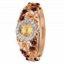 Lvpai P047 Flowers Bangle Watch Golden coupons